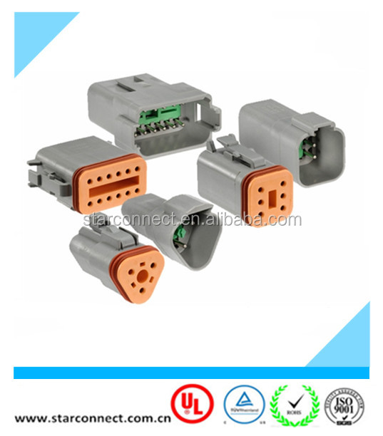 auto DT series connectors with terminals deutsch waterproof connectors replacement DT04-6P DT06-6S