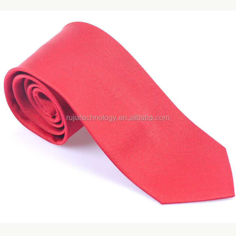 high quality silk woven neckties red ties