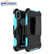 China manufacturer two in one clip belt case for iphone x