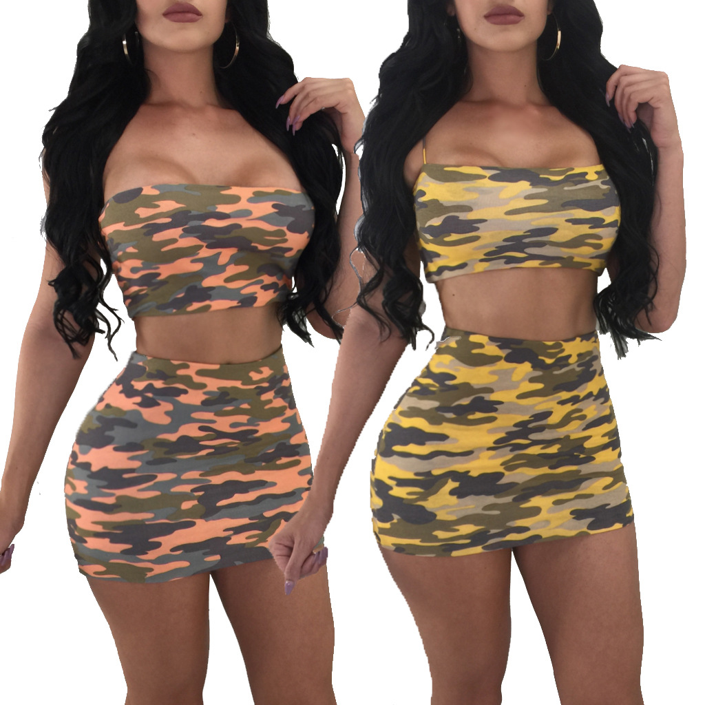 Plus size clubwear women two piece outfits