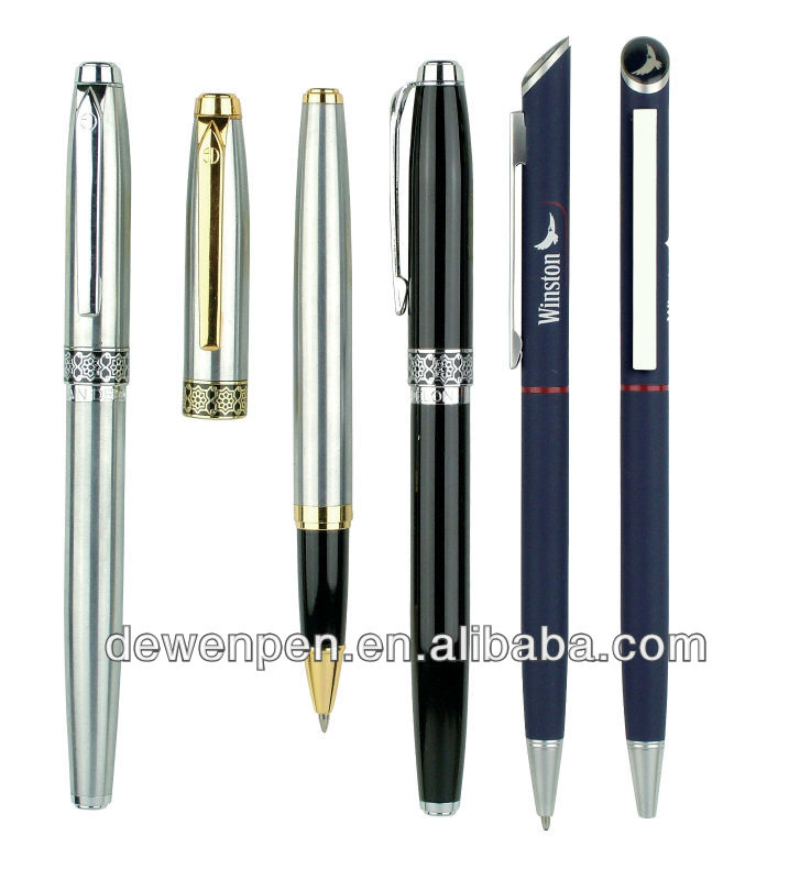 high quality dewen promotional metal ball pens,bic pen