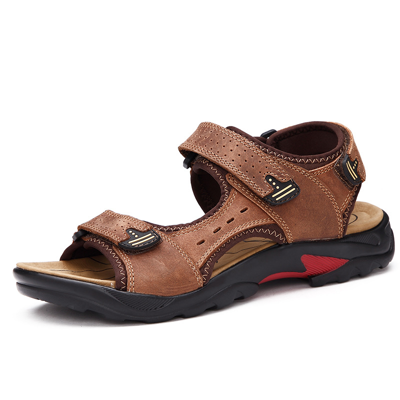 L8008 high quality genuine leather latest design new style mens leather <strong>sandal</strong>