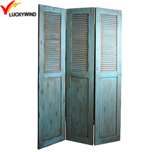 Rustic Old Home Folding Indoor Wooden Decorative Screens