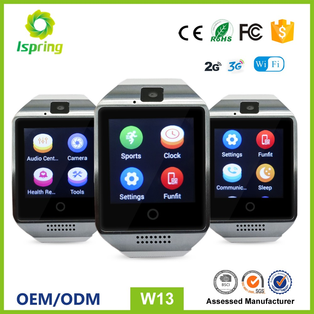 High Quality RAM 512MB ROM 4GB gsm 2g 3g wifi Android SmartWatch Smart Wrist Watch Phone