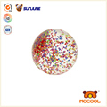 55mm TPU glitter bouncing ball, flashing light led ball