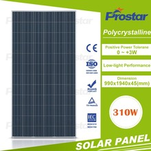 Blue sun new products 310w 310wp fiberglass solar panel