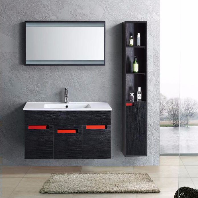 modern melamine top quality bathroom cabinets made in foshan