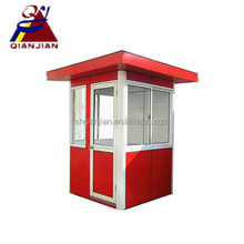 Flat China Prefab Sentry Box for Insulated Public security Guard House