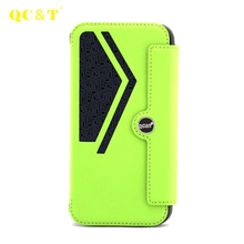 Custom LOGO Leather Flip Wallet Cover Case for Smartphone Apple iPhone 7 Bumper Case