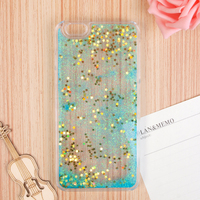 BlingBling Sparkle Glitter Heart Liquid Quicksand Clear Phone Case Custom Cell Phone Case WIth Stars