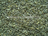 100% organic green tea leaves