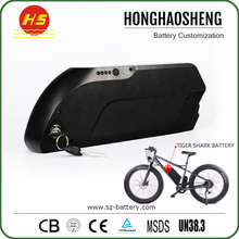 DS-6 13S5P tigershark electric bike battery 48v 17ah downtube style