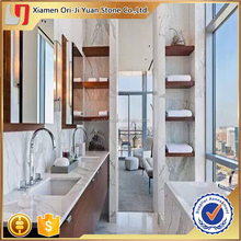 Top quality factory price polish big slab white marble tile/white tiles and marbles