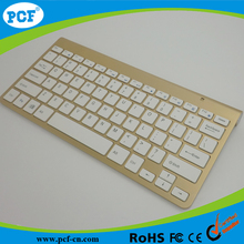 Golden Colour USB Slim Silent Wireless Mini Keyboard For Notebook Laptop PC Computer