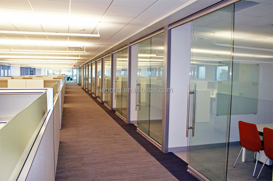 N172 Great Thin Glass Wall Sliding Door Interior Clear