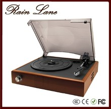 Three speed, compact, retro style player that plays Black Vinyl Records