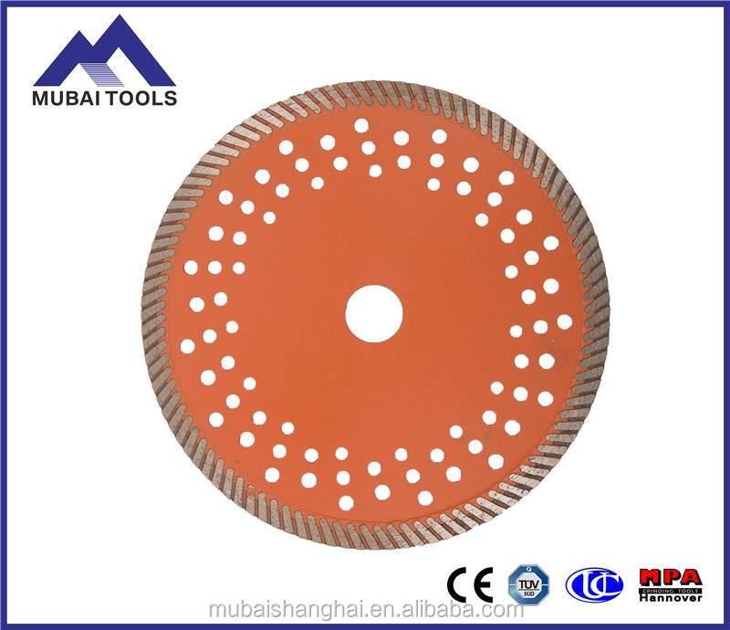 "8"" professional continuous rim turbo cutting tile diamond saw blades"