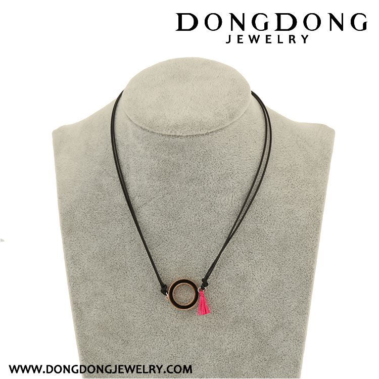 New selling simple design with different size near perfect white stainless steel necklace