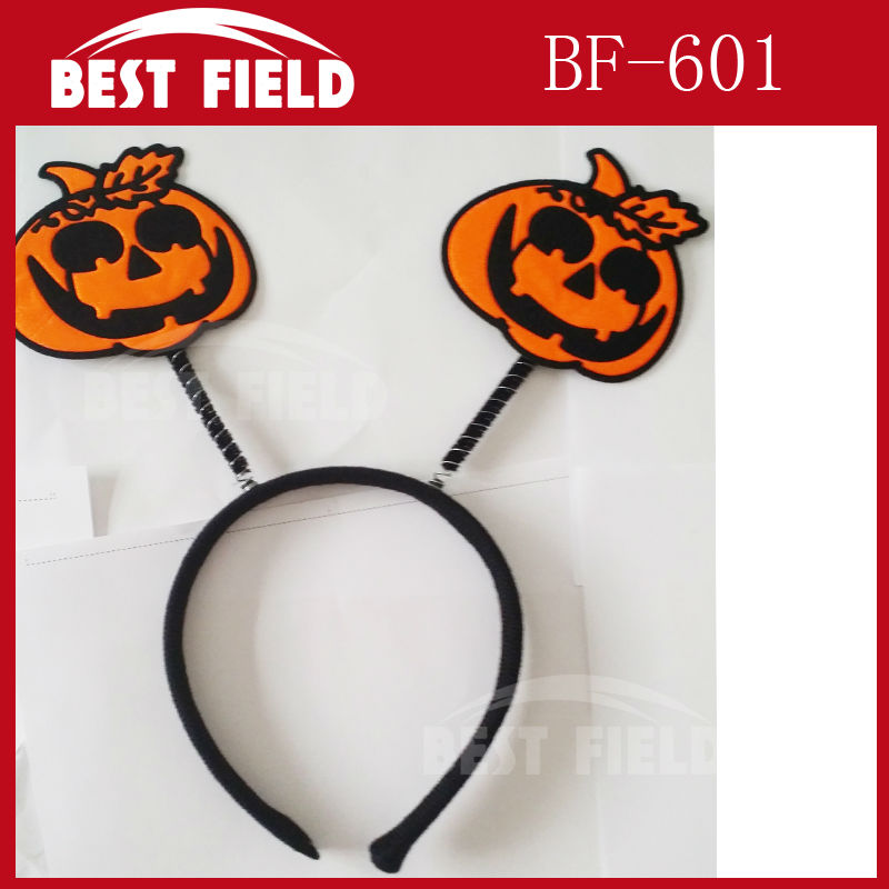 solid color pumpkin Halloween headwear