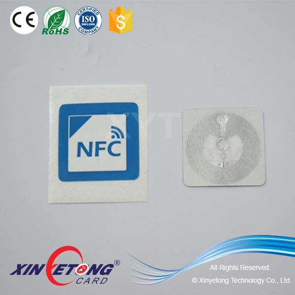 35*35mm 144byte NFC Tap Labels encode URL Website Page