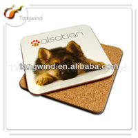 2013 newly design eco-friendly beautiful custom pet dog cardboard heat-resistant coaster TWC0722