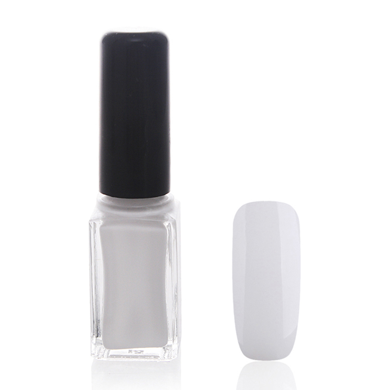 Hot selling mini square nail polish glass bottle with pirce