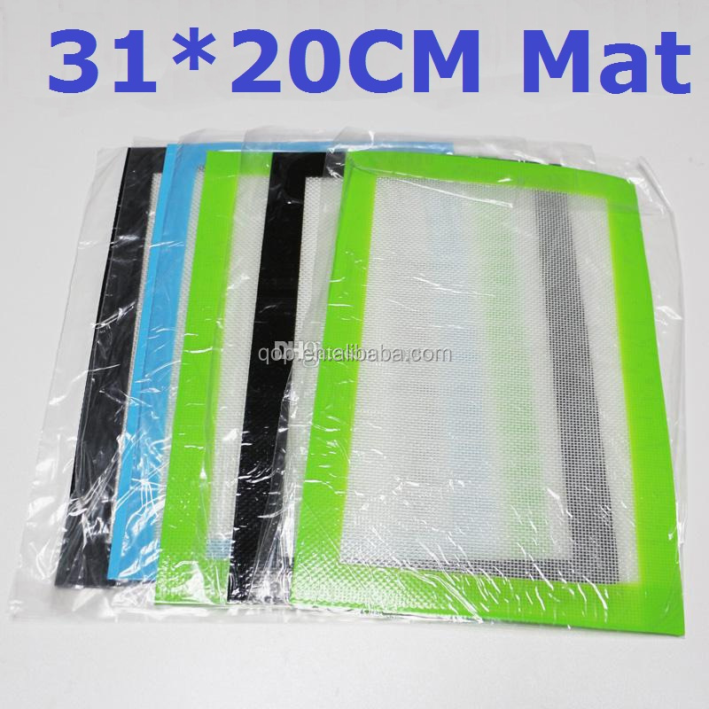 Any color/logo/design custom available 31*20cm mat dab wax food grade silicone pad