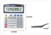 BM-1900T General Desktop Calculator 12 digits Solar and Battery Power for Office Use