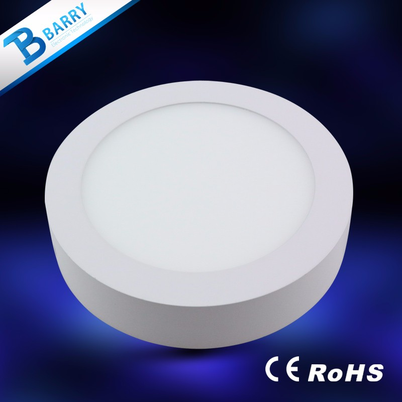 2 years warranty ce rohs surface mounted ip44 8 inch round led panel lights