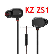 KZ ZS1 Dual Dynamic Driver Monitoring Noise Cancelling Stereo In-Ear Monitors earphones HiFi Earphone With Microphone VS SE 215