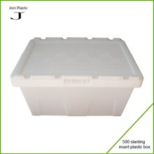 Nestable plastic container custom made