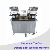 can machine for double head welding machine