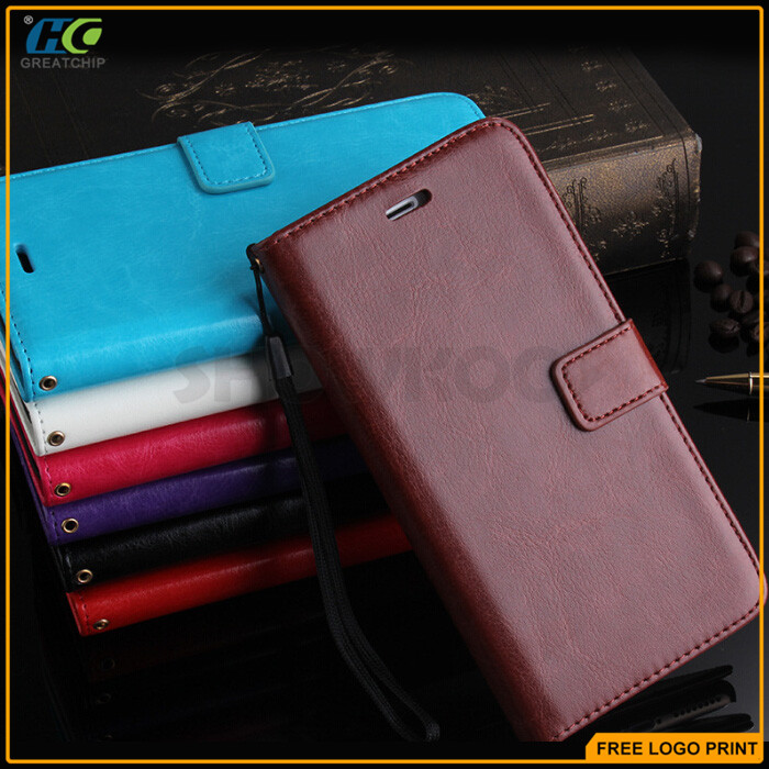 Magnetic Genuine Leather Wallet Card Pouch Flip Stand Slim Case Cover For iPhone 6S 4.7""