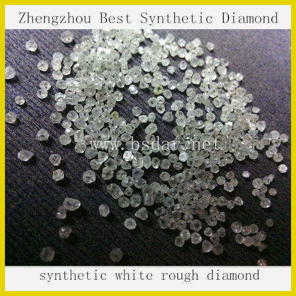 White HPHT Rough Crystal Synthetic mixed 1mm to 2mm Diamond