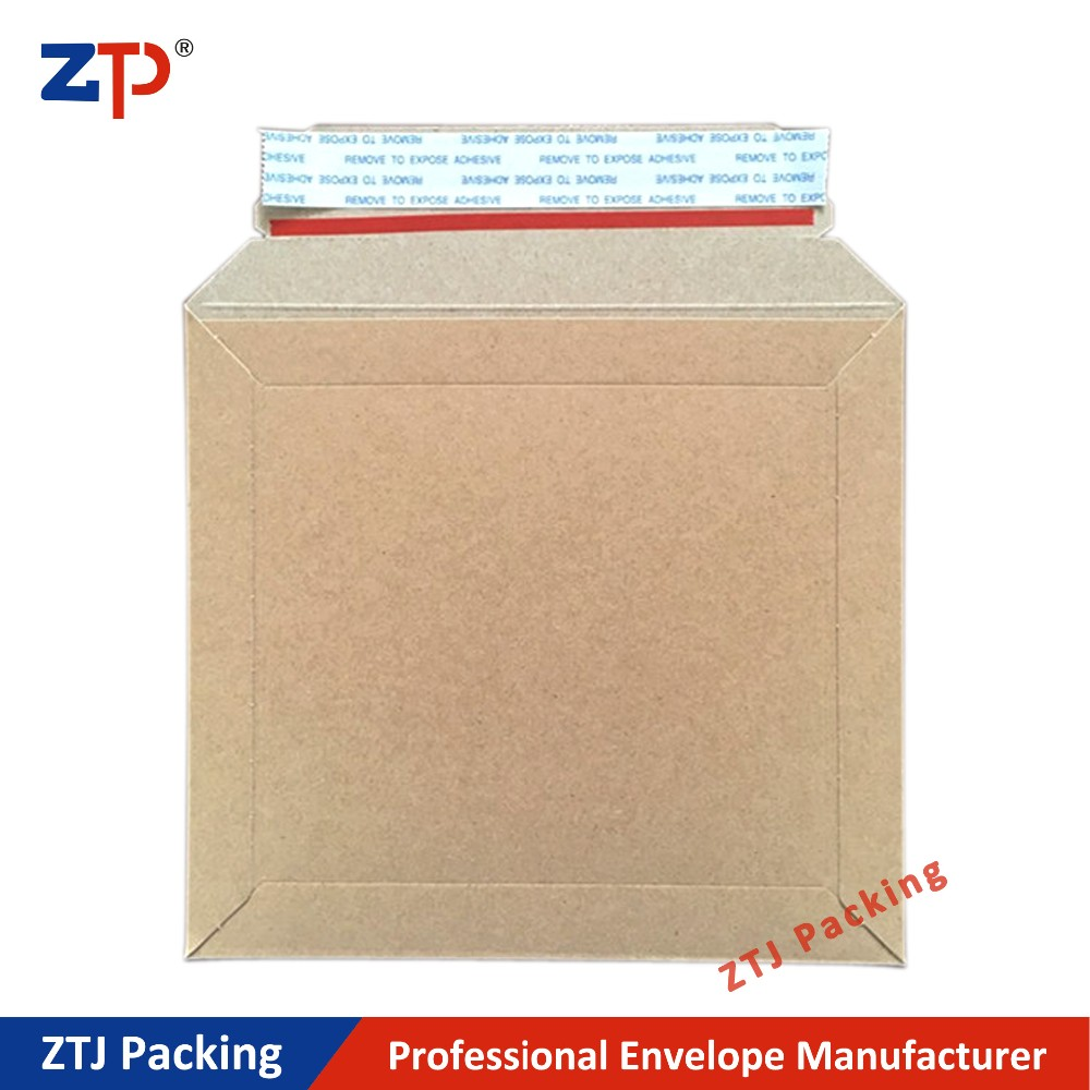 Thick cardboard flat mailers colorful shipping envelopes