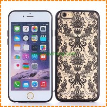 Custom Palace Flower Hard PC Case Ultra Thin Damask Phone Back Cover for iPhone 7