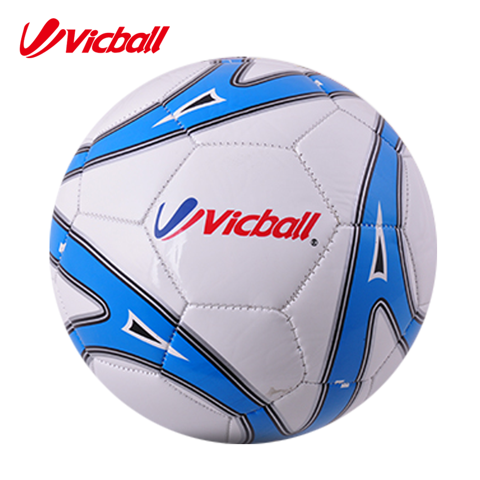 2016 Promotional Customized Logo Printing Size 5 4 3 2 1 Machine Sewing PVC Material Soccer Balls