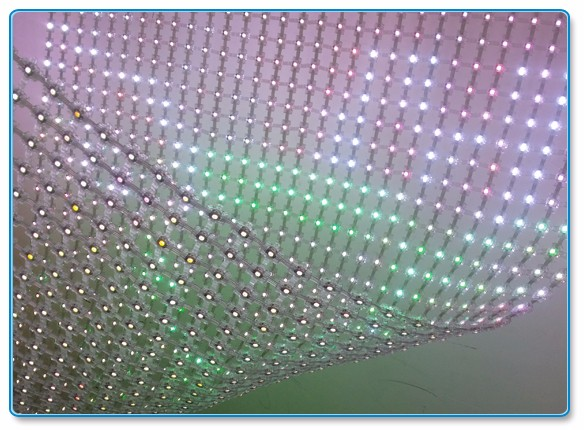 Wholesale price full color flexible transparent mesh LED display outdoor led screen