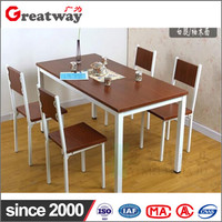 Best selling wooden steel regular office canteen and dining room table set furniture made in poland