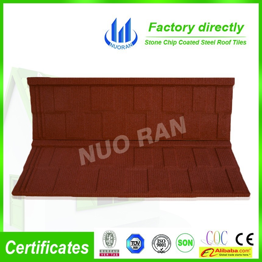 British villa roof tile made in China factory wholesale price stone coated metal roof tile