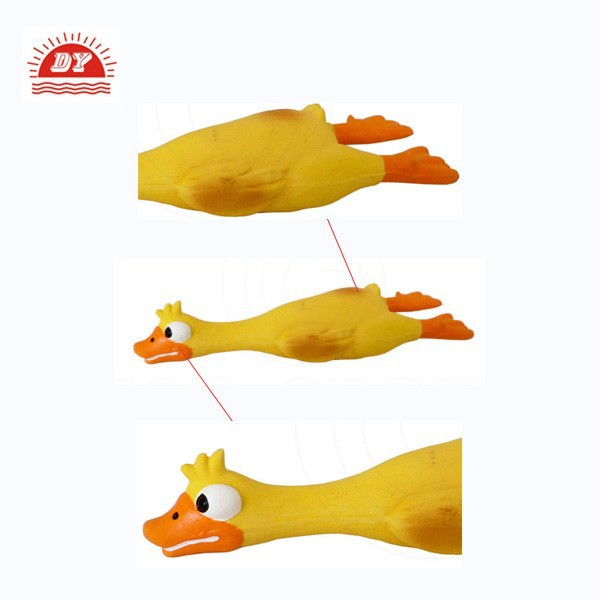 custom make latex rubber Squeaky duck pet toy