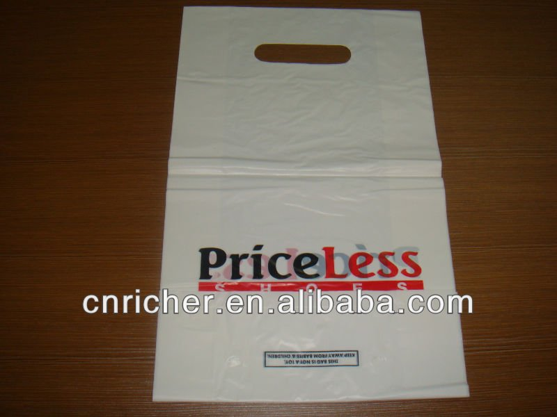 HDPE die cut handle bag ,carrier bag,shopping bag