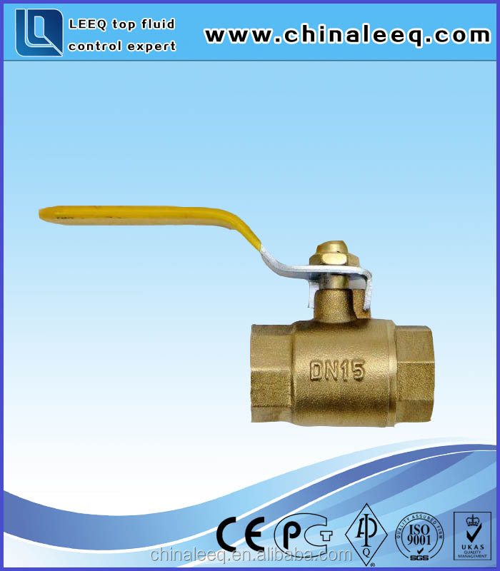 low price hand operated union end 1/2 inch brass ball valve with nipple