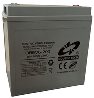 High quality 6v 200ah rechargeable smf e-tricycle battery for golf cart