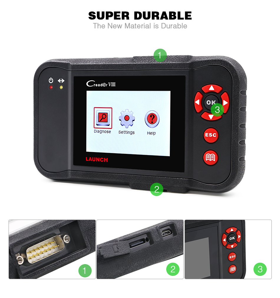 100% Original Launch X431 CReader VIII Code Reader Creader 8 X-431 Creader viii Update Via Official Website