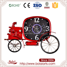 BSCI long lasting red two wheel craft clock old model car for living room
