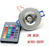 China 3W rgb led ceiling light with 24 key remote