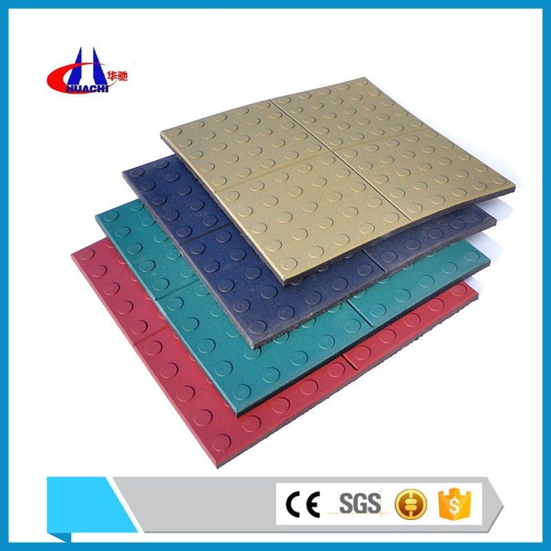 500x500mm size rubber sheet playground soft fall rubber surfacing