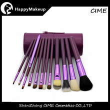 Hot sale multicolor 12 PCS Customized Cosmetic facial makeup brush sets kit with case