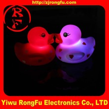 custom flash light Bath toys LED rubber duck for sale